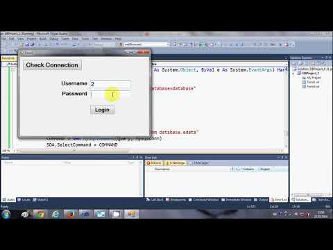 MySQL VB NET Tutorial 12   Show database values in Table or DataGridView
