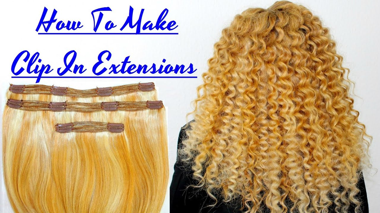 How To Make Clip In Extensions Sew On Indian Remy Hair Weft Track To Wig  Clips Tutorial 373093e23