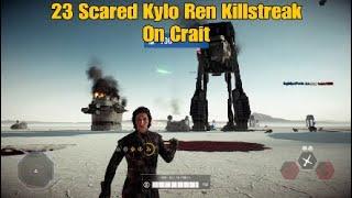 Scared Kylo Ren Killstreak On Crait - Star Wars Battlefront ll