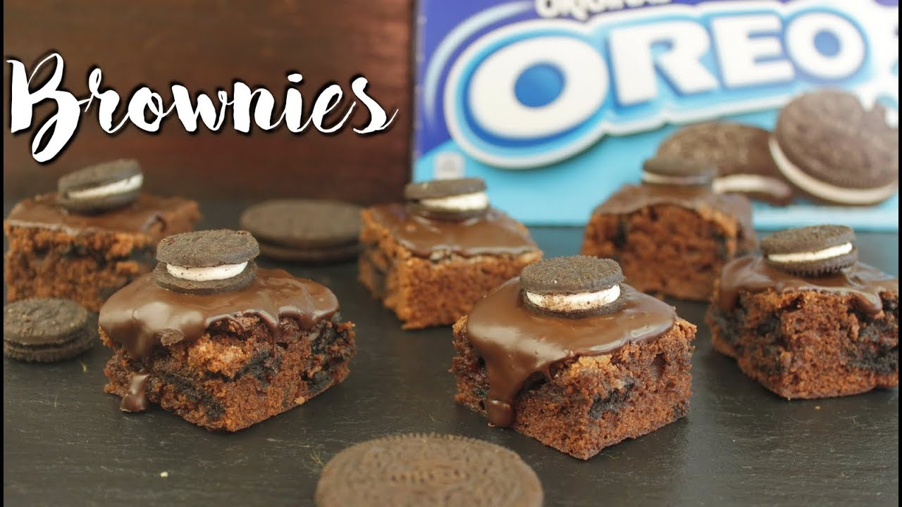oreo brownies backen brownie rezept mit oreos einfach schnell selber machen youtube. Black Bedroom Furniture Sets. Home Design Ideas