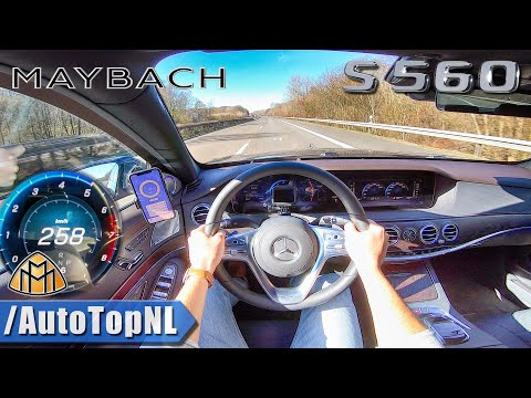 MERCEDES MAYBACH S CLASS S560 AUTOBAHN POV 258km/h TOP SPEED by AutoTopNL