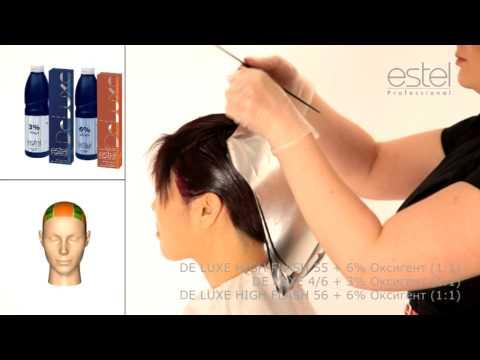 Окрашивание волос Брюнетка выделение прядей креативное окрашивание