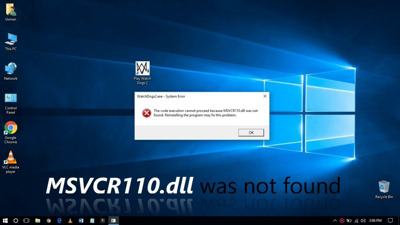 The Code Execution cannot Proceed because MSVCR110.dll was not found.......... :: WAMP Server Error
