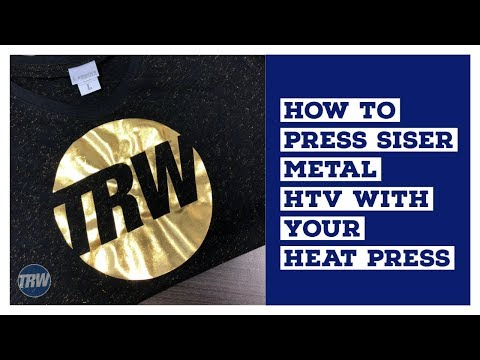 How to Press Siser Metal HTV With Your Heat Press