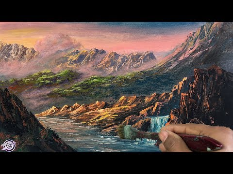 How To Make A Beautiful Scenery Landscape Painting | Nature Painting | Acrylic Painting | Art Candy