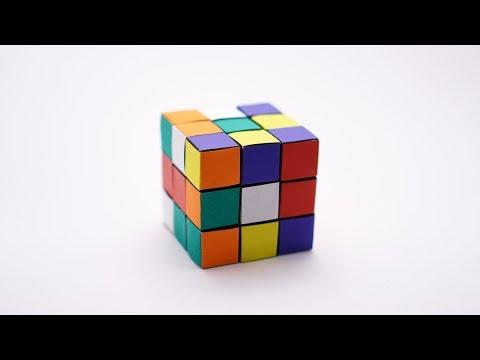 ORIGAMI RUBIK'S CUBE (Jo Nakashima) - no glue! - Static version