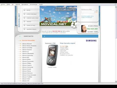 Liberar samsung l760v en movical net youtube - Movical net liberar ...