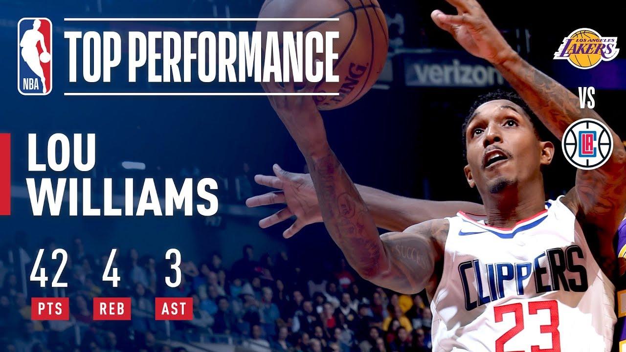 d54463ad64e Lou Williams Scores 42 vs Lakers