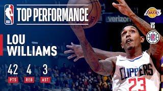 Lou Williams Scores 42 vs Lakers | November 27, 2017