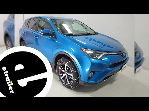 Konig Self-Tensioning Snow Tire Chains Installation - 2018 Toyota RAV4 - etrailer.com