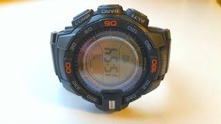 Огляд і налаштування годинника Casio Pro Trek PRG-270-1E (Review and setting)