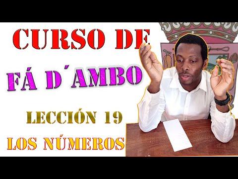 CURSO DE FA D'AMBO/ LOS NÚMEROS- LECCIÓN 19