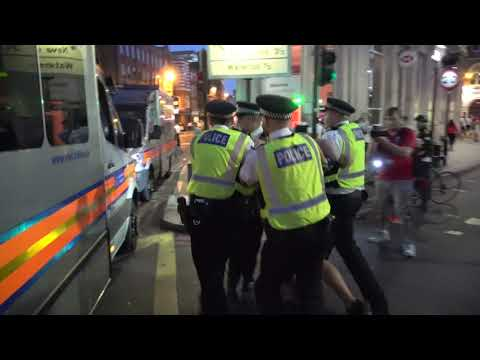 Scuffles with police in London after England lose World Cup semi final to Croatia