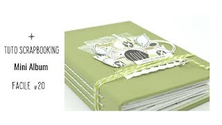 TUTO SCRAPBOOKING MINI ALBUM FACILE #20