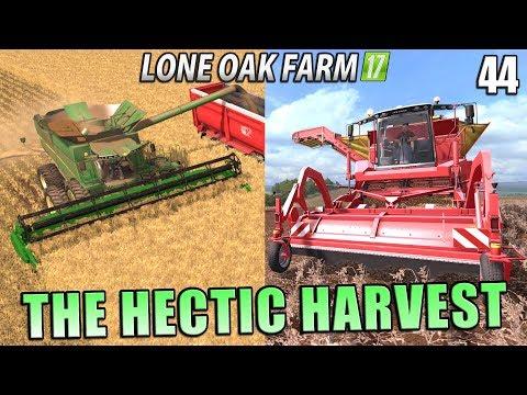 THE HECTIC HARVEST! | Lone Oak Farm | Farming Simulator 17 | #44