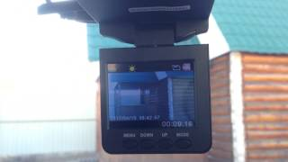 как настроить время на видеорегистраторе Intego VX-127A?