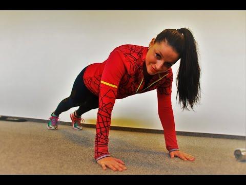 Cvičení na vršek-  ruce (triceps, biceps), ramena, prsa a záda pro ženy s činkami a vlastní vahou