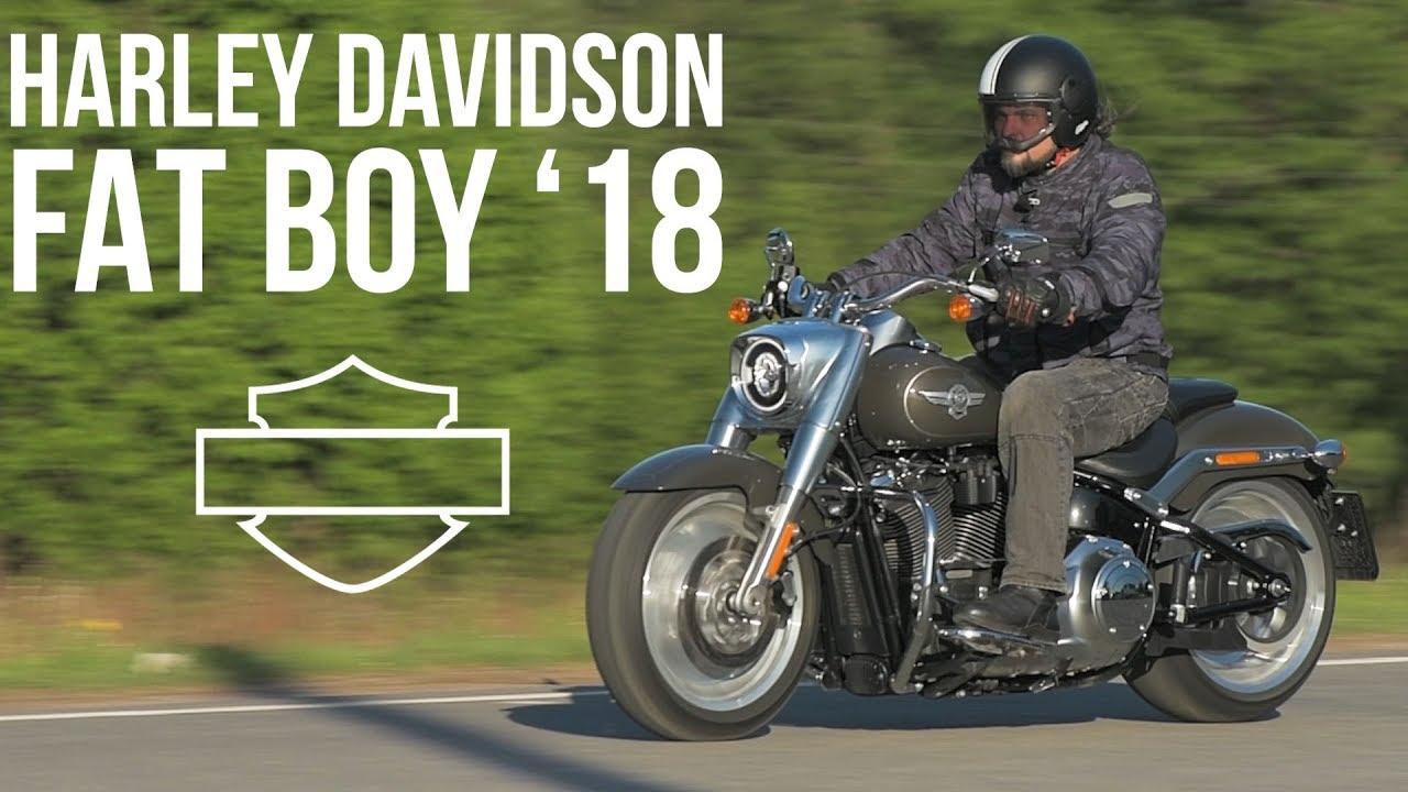 Harley Davidson Fat Boy 2018 мотозона 37 Youtube