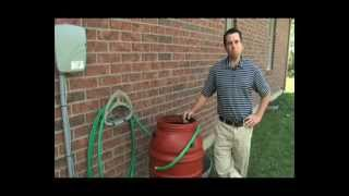 Use rain barrel to water pump plants with RUP160 utility pump