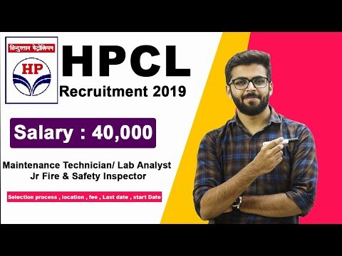 HPCL Recruitment 2019 | Salary 40,000 | Maintenance Technician/ Lab Analyst | Latest Jobs 2019