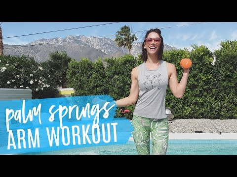 LIVE Arm Workout With Karena & Bobby in Palm Springs!