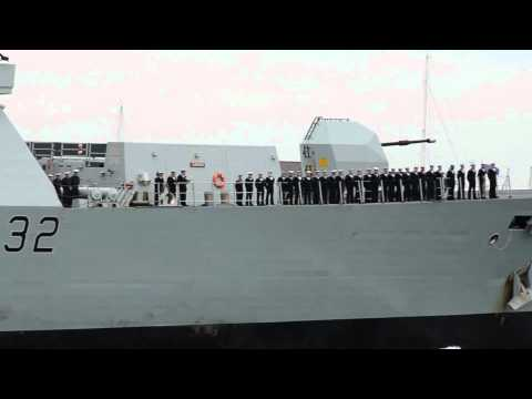 HMS Daring Returns to Portsmouth