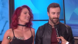 Sharna and James on the  Ellen Show