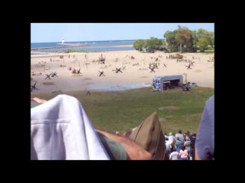 D-Day Reenactment, over 1000 actors, planes, landing craft, and lots of machine gun fire