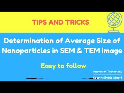 Determine average size of nanoparticles in SEM, TEM image using Image J software-Youtube