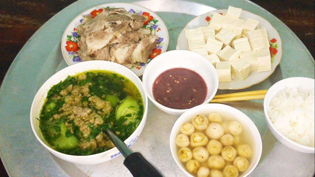 Canh cua rau đay – Cà pháo mắm tôm – Món ăn gia đình miền Bắc, ăn vào nhớ quê hương