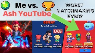 Playing Brawl Stars Against Ash YouTube and Jigsaw // Worst Matchmaking Ever?