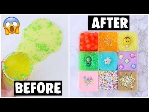 EXTREME UNBELIEVABLE SLIME PALETTE MAKEOVERS *fixing my old slime into 9 different slimes*