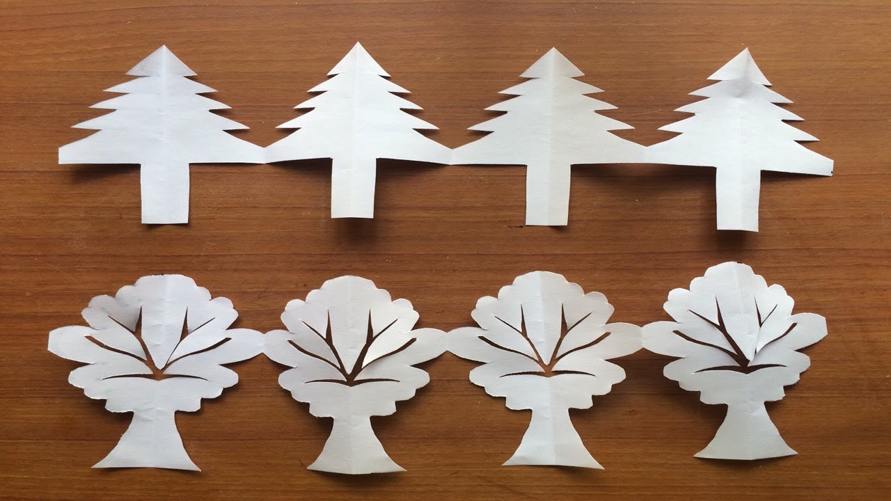 Christmas Decoration Ideas Tree Border Pattern Form Craft Paper
