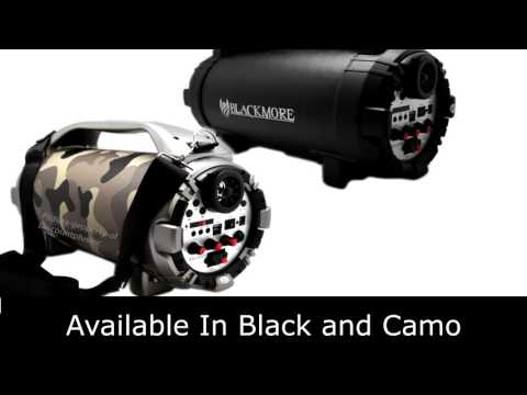 BLACKMORE BTU5001 Bluetooth Rechargeable Cylinder Speake Mp3 Music Player + PA Function