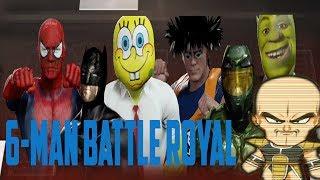 EPIC ROYAL RUMBLE!!! Spiderman vs Batman vs Sherk vs Bob Esponja vs Jefe maestro vs Goku.