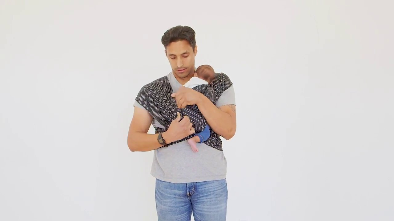 Solly Baby How I Wrap With A Dad In The New Standard Wrap Youtube