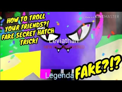 FAKE SECRET HATCH TROLL!?!? HOW TO DO IT?! BUBBLE GUM SIMULATOR!