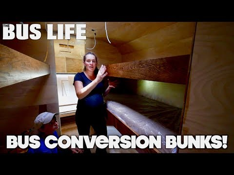 Triple Bunk Beds For Our Bus Conversion  | The Bus Life