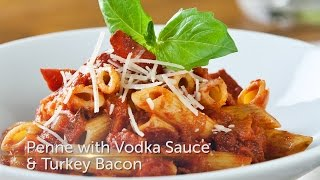 Penne Pasta With Vodka Sauce & Turkey Bacon