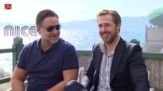 Interview Russell Crowe & Ryan Gosling THE NICE GUYS Cannes 2016