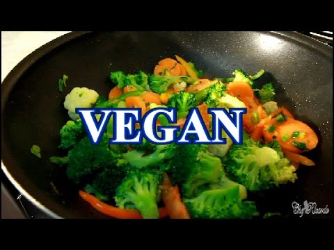 VEGAN FRY UP VEGETABLES / CARROT, BROCCO & CAULIFLOWER