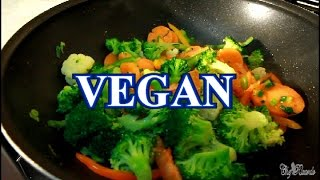 Vegan Fry Up Vegetables / Carrot, Brocco & Cauliflower | Recipes By Chef Ricardo