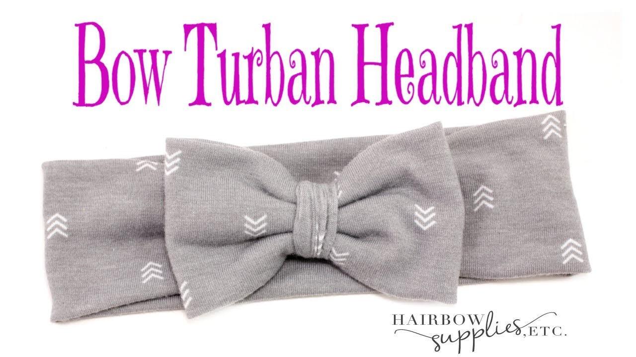 Bow Turban Headband Tutorial Diy Baby Headwrap Bow