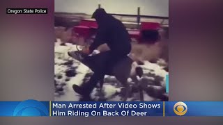 Man, 18, Arrested After 'Disturbing' Video Shows Him Riding On Back Of Deer