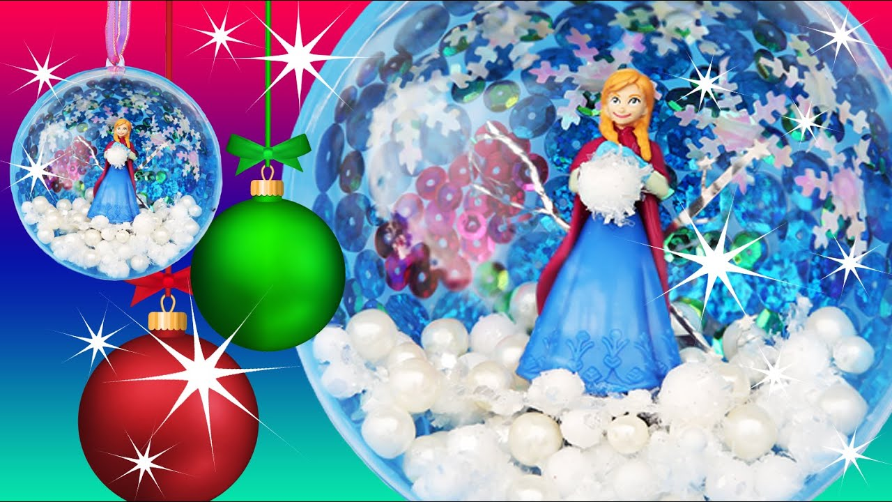 frozen anna snowball ornament make your own christmas decoration sequins pearls how to youtube - How To Make Your Own Christmas Decorations