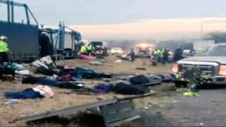 Camión arrolla a peregrinos en la Querétaro-Celaya