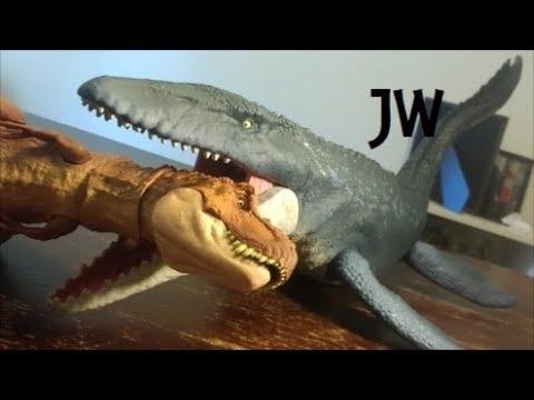 Mattel Jurassic World Fallen Kingdom Real Feel Mosasaurus 2018 New