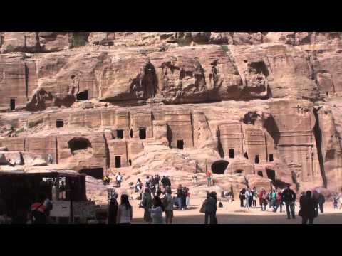 Nabataean Facades and Burial Tombs at Petra
