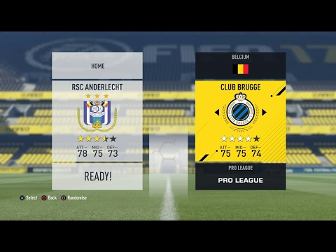 FIFA 17 Jupiler Pro League: Play Off 1: RSC Anderlecht - Club Brugge