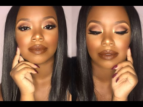 Brown Lipstick & Soft Cut Crease Makeup Tutorial